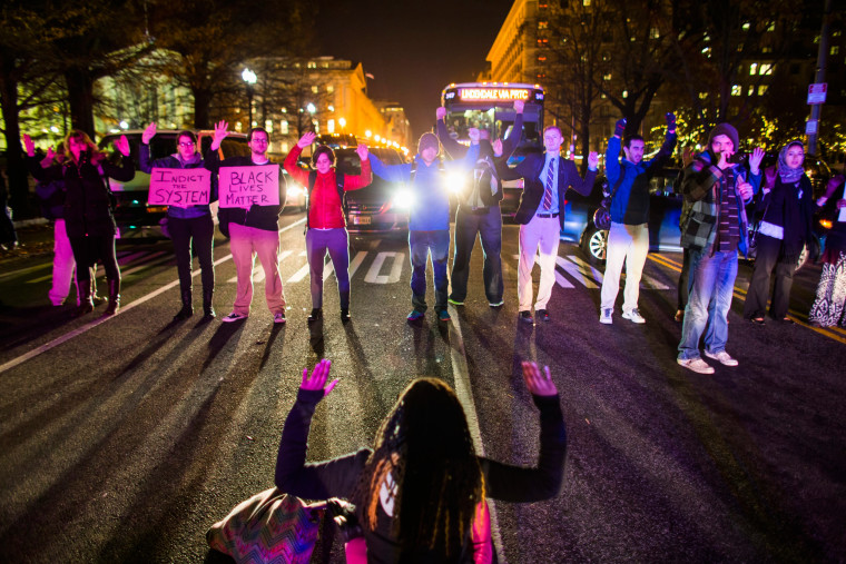 Image: People Protest No Indictment in Eric Garner Chokehold Case