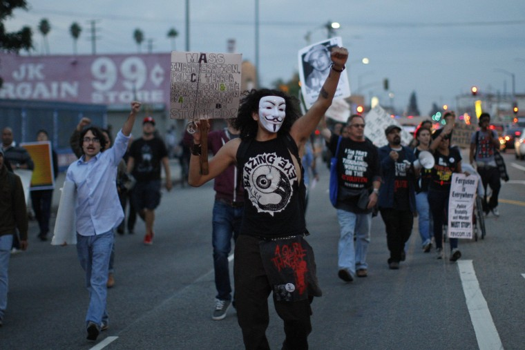 Image: Demonstrations Over Recent Grand Jury Decisions In Police Shooting Deaths Continue