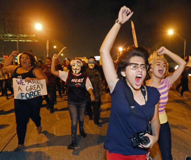 Image: Protests After Garner Chokehold Decision