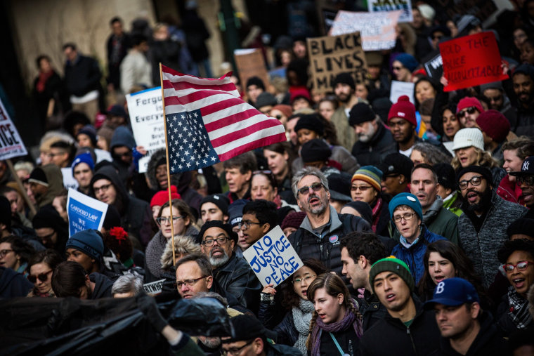 """Image: Protesters Stage """"Day Of Anger"""" March In Wake Of Recent Grand Jury Decisions"""