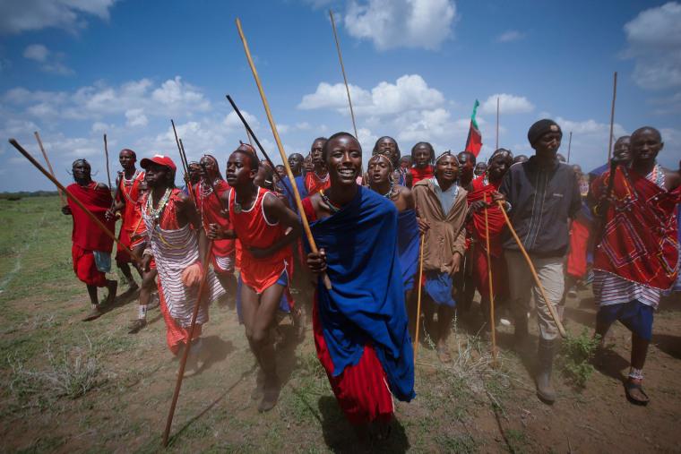 Image: Maasai Olympics 2014