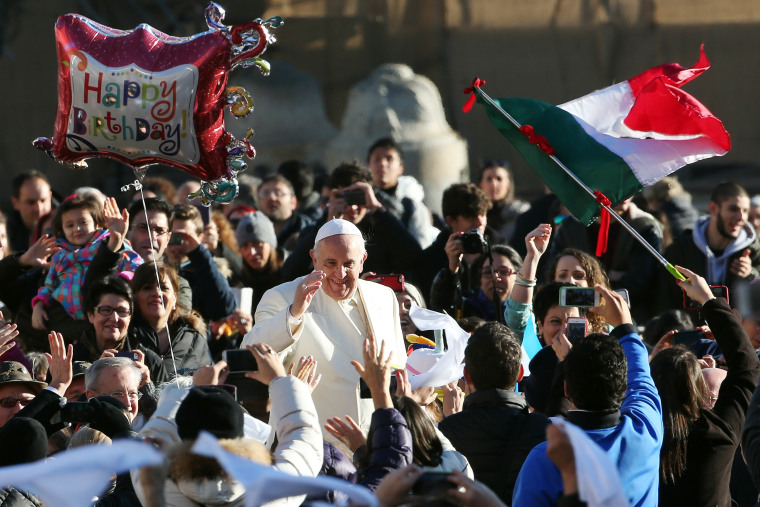 Image: Pope Attends His Weekly Audience In St. Peter's Square
