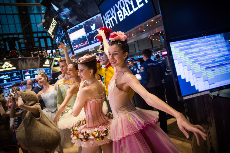 """Image: *** BESTPIX *** Characters From """"The Nutcracker"""" Help Open NYSE On Shortened Day Of Holiday Trading"""