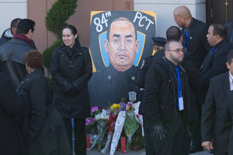 Image: Funeral Held For One Of Two NYPD Officers Killed In Brooklyn