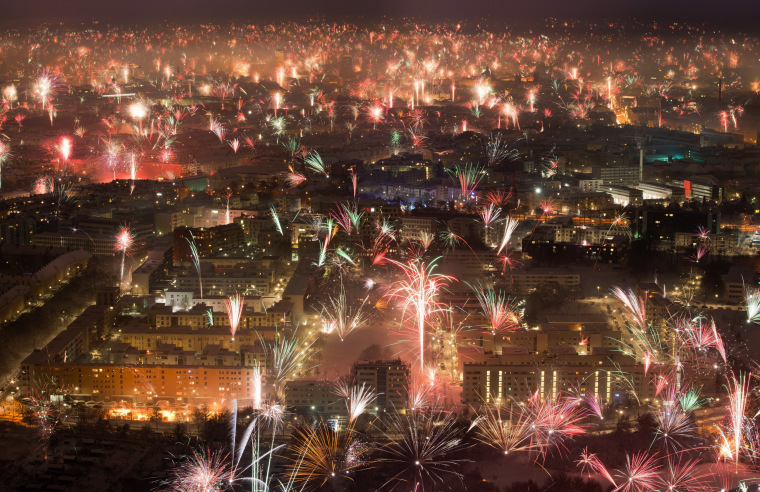 Image: New Year fireworks in Munich