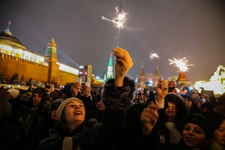 Image: New Year celebrations on Red Square in Moscow