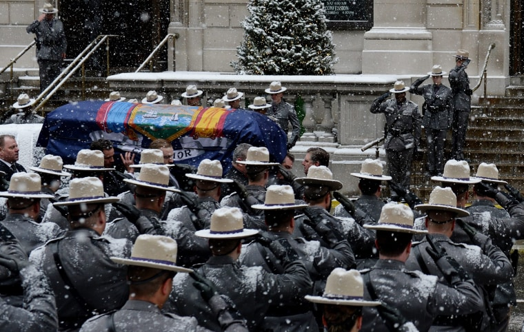 Image: Funeral for former New York Governor Mario Cuomo