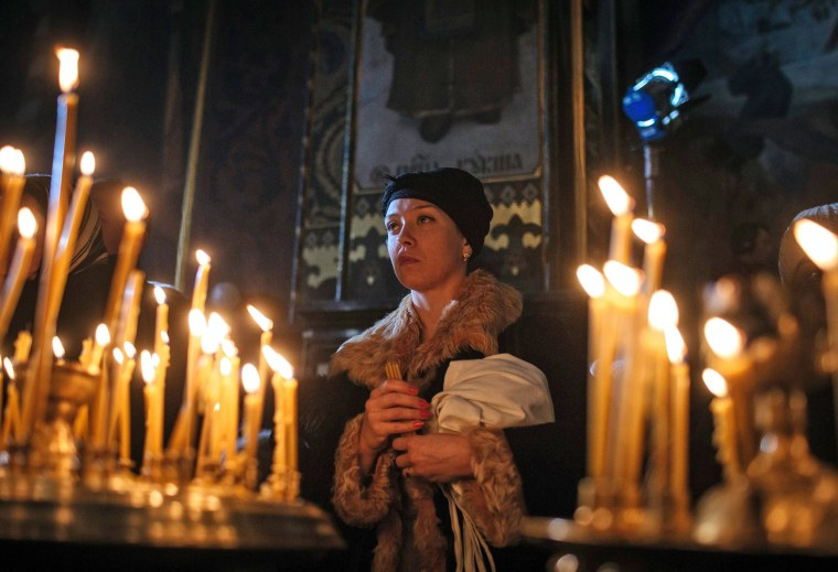 Image: Orthodox Christmas Eve mass in Ukraine
