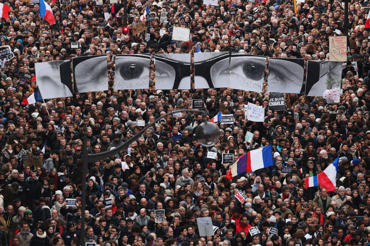 Image: Mass Unity Rally Held In Paris Following Recent Terrorist Attacks