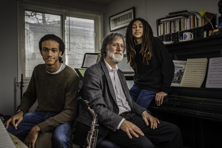 Image: Tom Monroe, 58, and his sons, Elias Jack-Monroe, 17, and Theo Jack-Monroe, 14, talk about the complexity of being a biracial family.