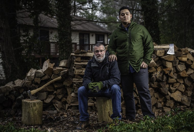 Image: Mark Johnson-Lewis, 48, and his son, Tyler Lewis, 22, talk about the complexity of being a biracial family