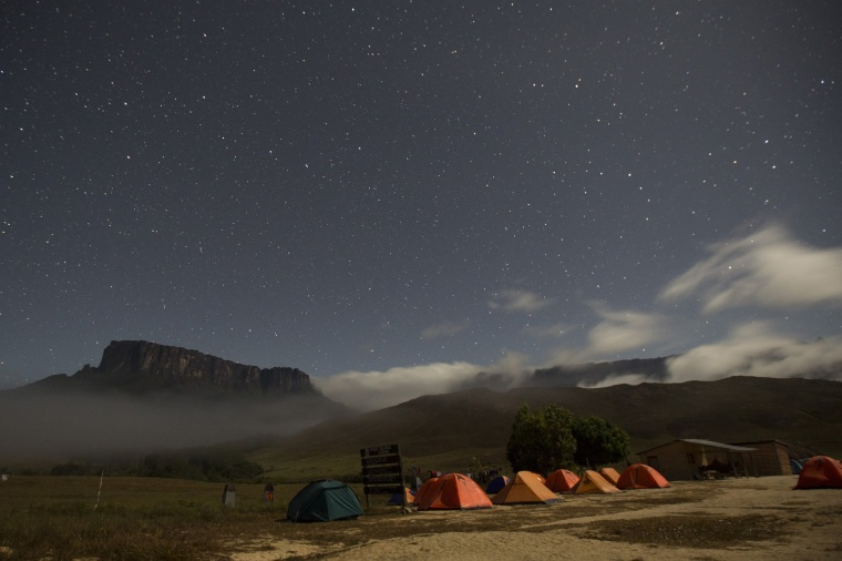 Image: Kukenan and Roraima mounts are seen from the Tec Camp, near Venezuela's border with Brazil