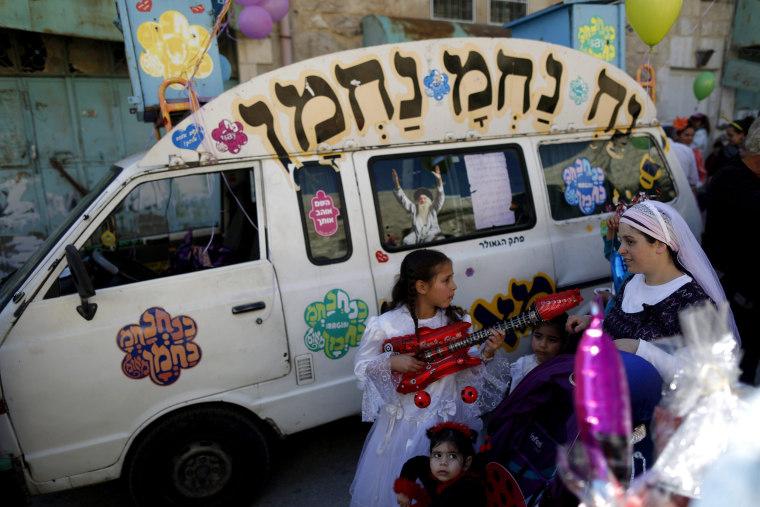 Image: Purim parade Hebron