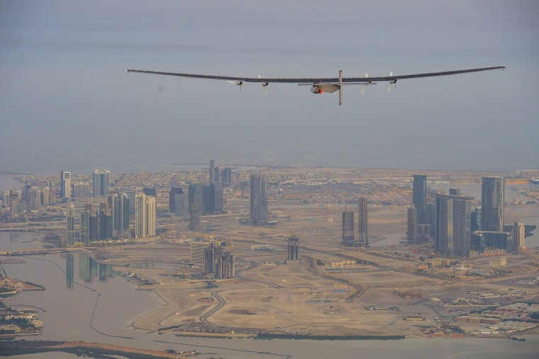 Image: First test flight of Solar Impulse 2 in Abu Dhabi