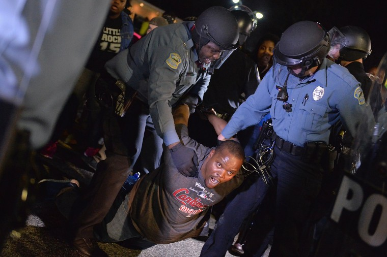 Image: Protests In Ferguson After Resignation Of Police Chief