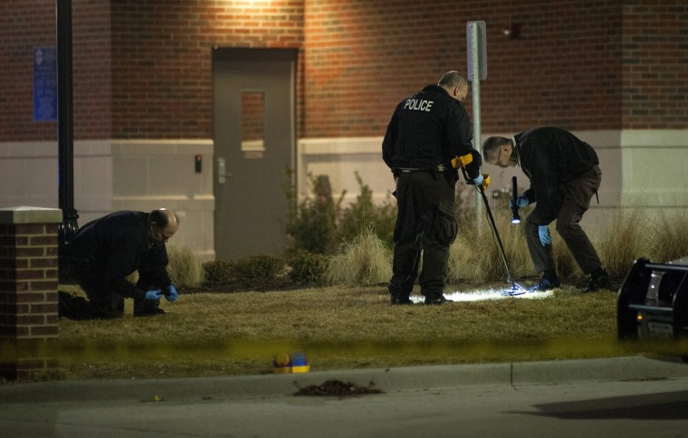 Image: Two police officers shot outside Ferguson Police Headquarters