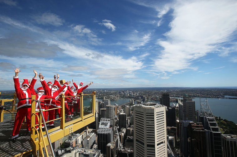 Image: Santas Visit SKYWALK At Sydney Tower Eye