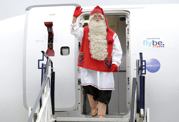 Image: Joulupukki, the Santa Claus from Lappland of Finland to Budapest