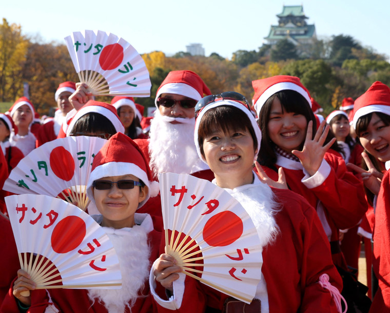 Image: Santas Run In Osaka