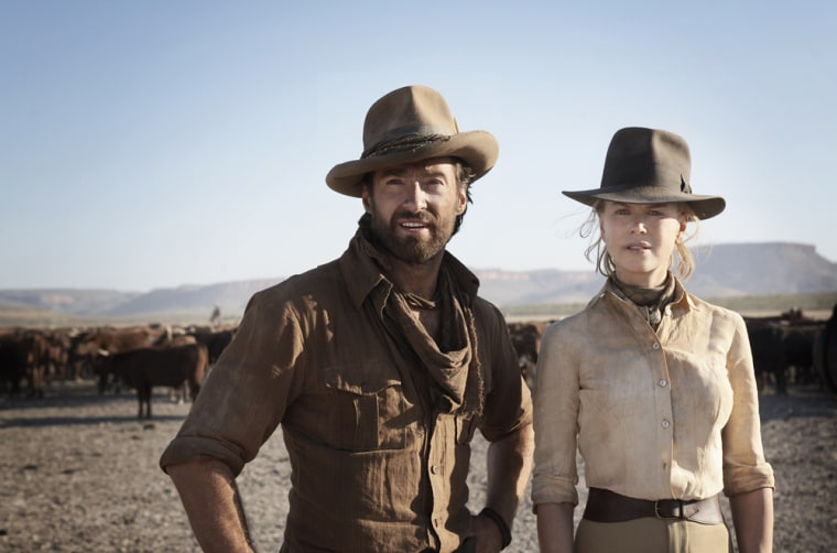This Twentieth Century Fox handout photo received on November 19, 2008 shows actors Hugh Jackman and Nicole Kidman in a scene from the epic romantic adventure movie 'Australia'.  RESTRICTED TO EDITORIAL USE GETTY OUT  AFP PHOTO / HO / TWENTIETH CENTURY FOX / James FISHER (Photo credit should read James FISHER/AFP/Getty Images)