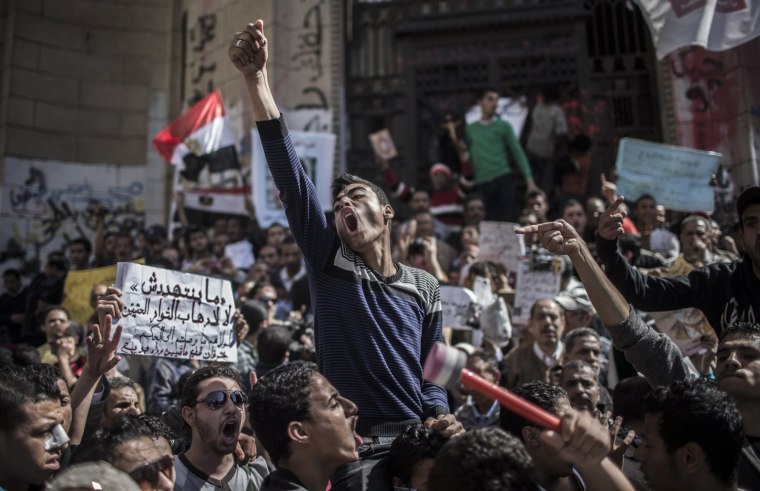 Image: Egyptians protest in front of prosecutor general office