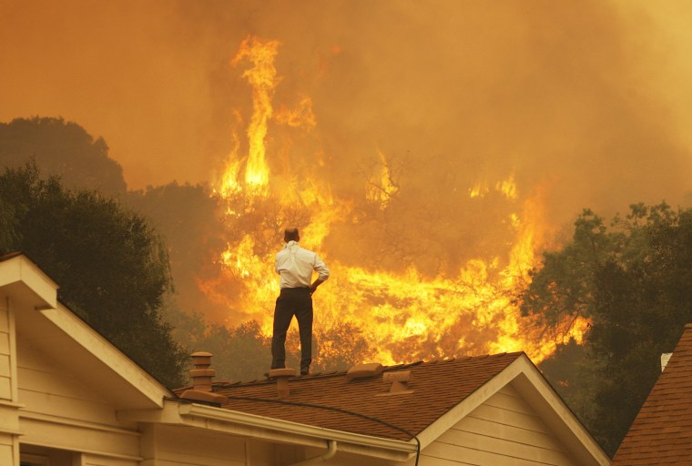 Image: Springs Fire In Southern California Gains Strength, Continues To Threaten Homes