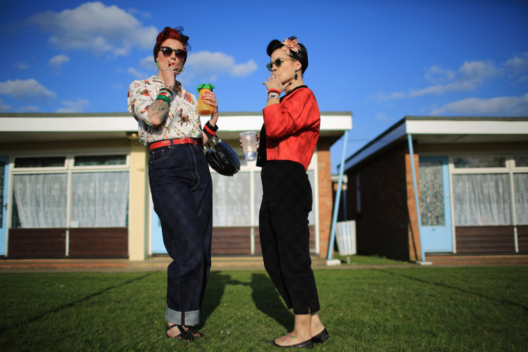 Image: *** BESTPIX *** Enthusiasts Gather For Hemsby's Rock And Roll Weekender