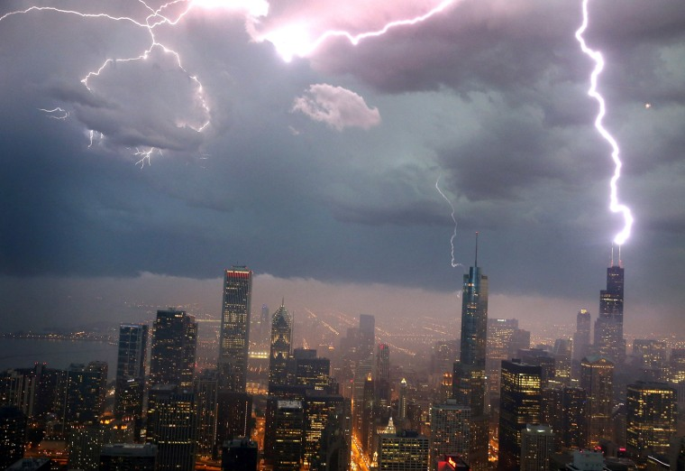 Image: Severe Storms Pass Through Chicago