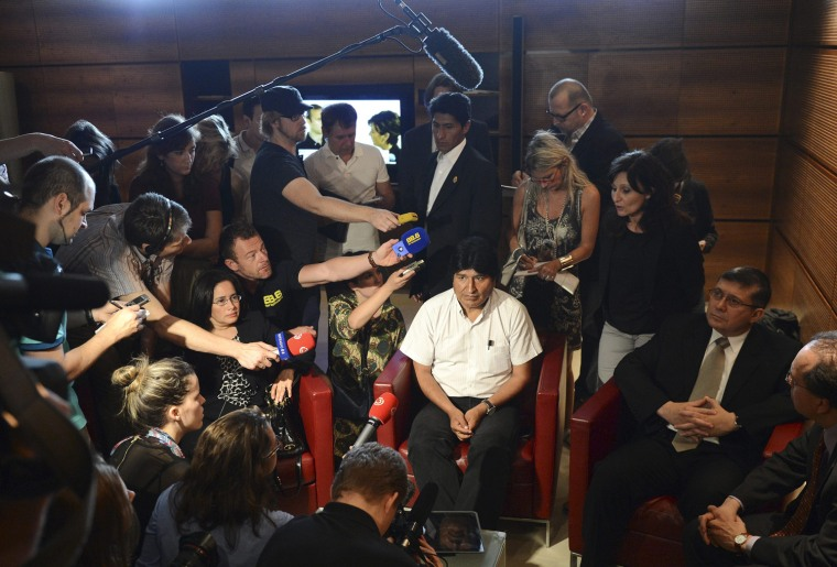Image: Bolivian President Evo Morales at Vienna airport