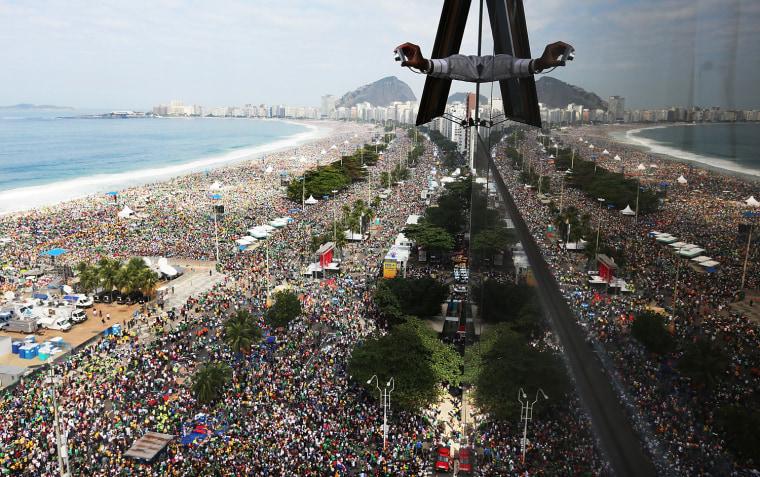 Image: *** BESTPIX *** Pope Francis Celebrates Mass On Copacabana Beach