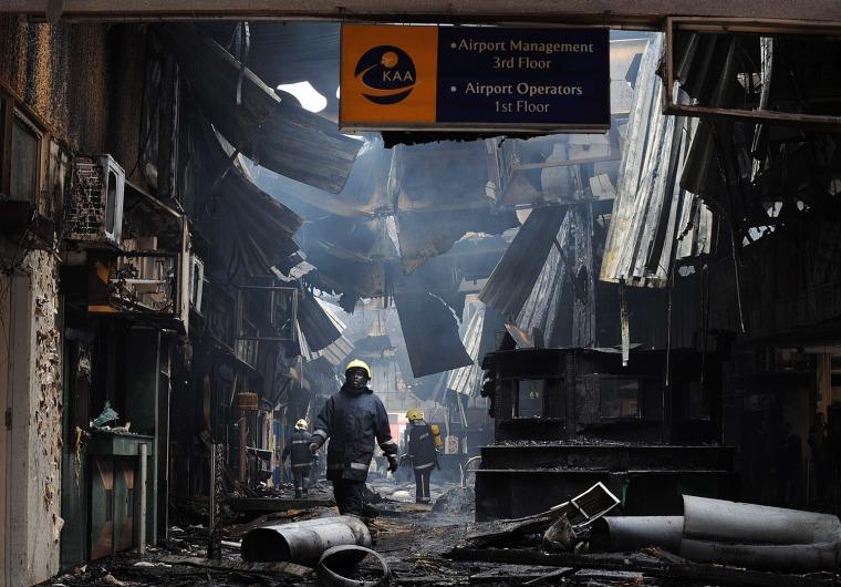 Image: KENYA-AIRPORT-FIRE