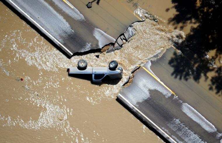 Image: Aerial Views from Weld County Colorado during the massive 2013 Flooding