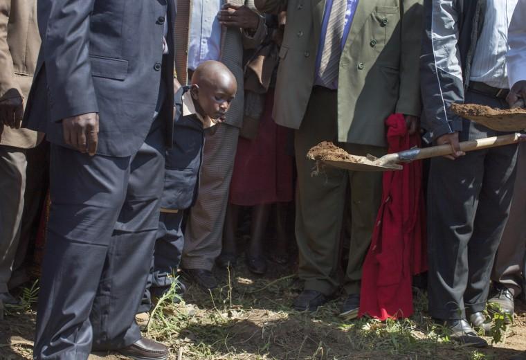 Image: Simon Kamau, 4, during the funeral of his mother, Veronicah Wairimu Kamau, in Mang'u.
