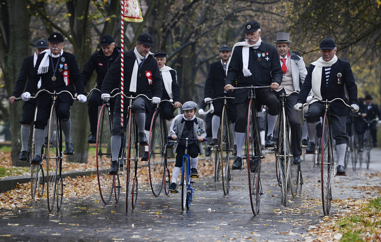 Image: Traditional Penny Farthing bicycle race