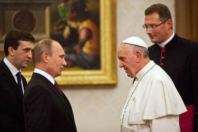 Image: Pope Francis Meets Russian President Vladimir Putin