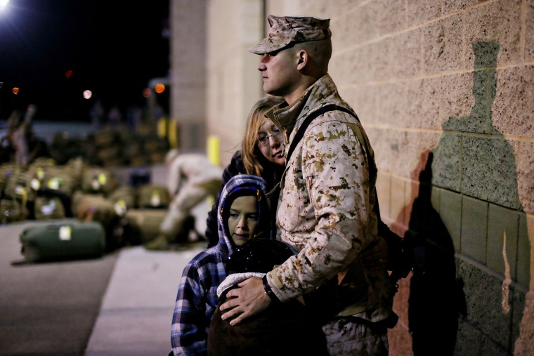 Image: BESTPIX Marines Leave Camp Pendleton As Part Of Last Major Marine Deployment To Afghanistan