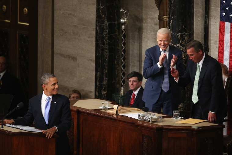 Image: ***BESTPIX*** President Obama Delivers State Of The Union Address At U.S. Capitol