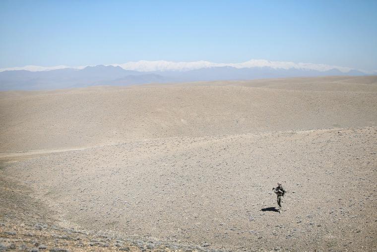 Image: *** BESTPIX *** U.S. Soldiers Continue Patrols Outside FOB Shank In Afghanistan