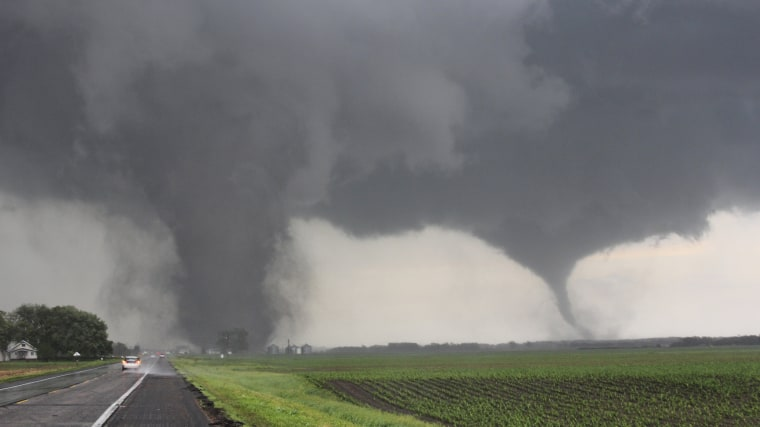Image: Two tornadoes touch down near Pilger  Nebraska