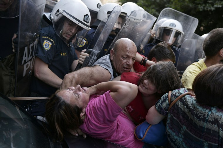 Image: TOPSHOTS-GREECE-FINANCE-ECONOMY-JOBS-PROTEST