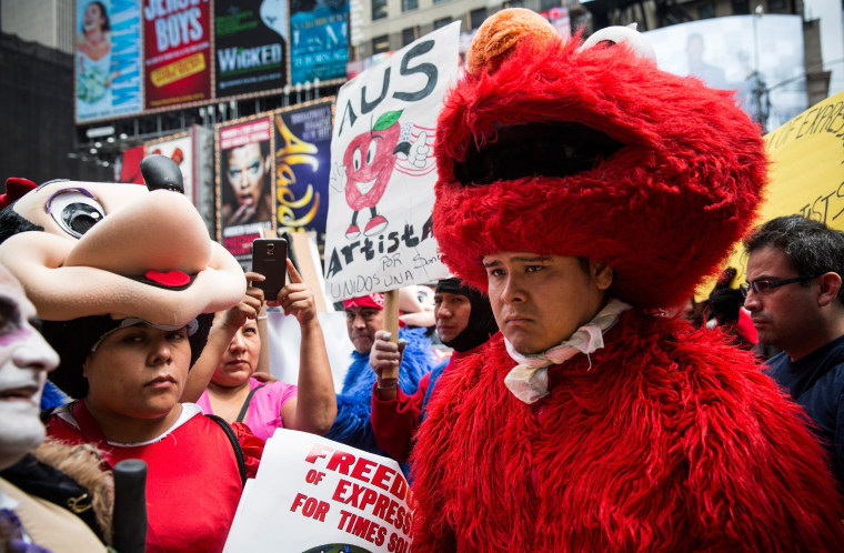 Image: BESTPIX City Council Members Announce Legislation Proposing Regulation Of Times Square Costumed Characters