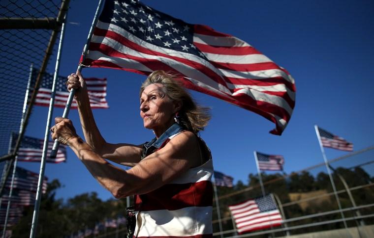Image: ***BESTPIX*** Lafayette, California Holds Annual Flag Brigade September 11th Memorial