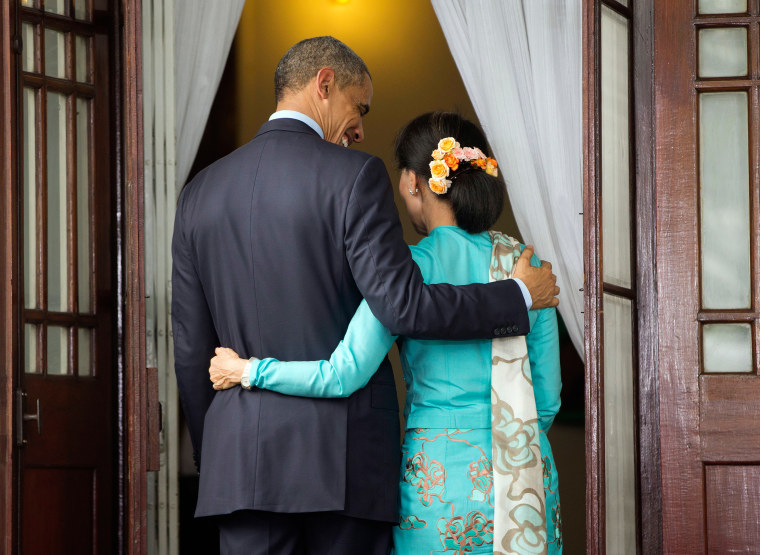 Image: Barack Obama, Aung San Suu Kyi