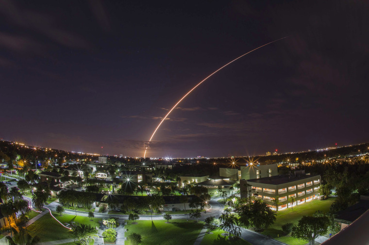Image: A United Launch Alliance Atlas V 551 rocket blasts off from Cape Canaveral Air Force Station in Florida