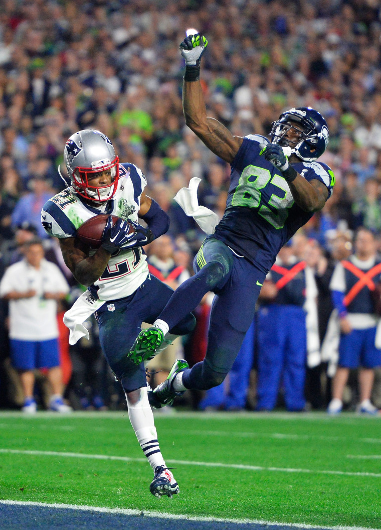 Image: Super Bowl XLIX Seattle Seahawks against the New England Patriots