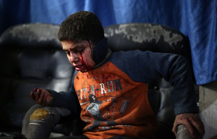 Image: TOPSHOTS-SYRIA-CONFLICT