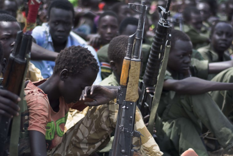 Image: TOPSHOTS-SSUDAN-UNICEF-UNREST-CHILD-SOLDIERS
