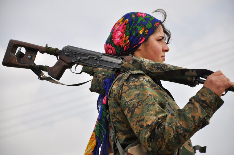 Image: TOPSHOTS-SYRIA-CONFLICT-KURDS-IS