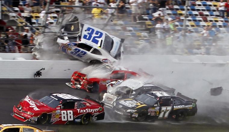 Image: Kyle Larson, Parker Klingerman, Dale Earnhardt Jr., Justin Allgaier