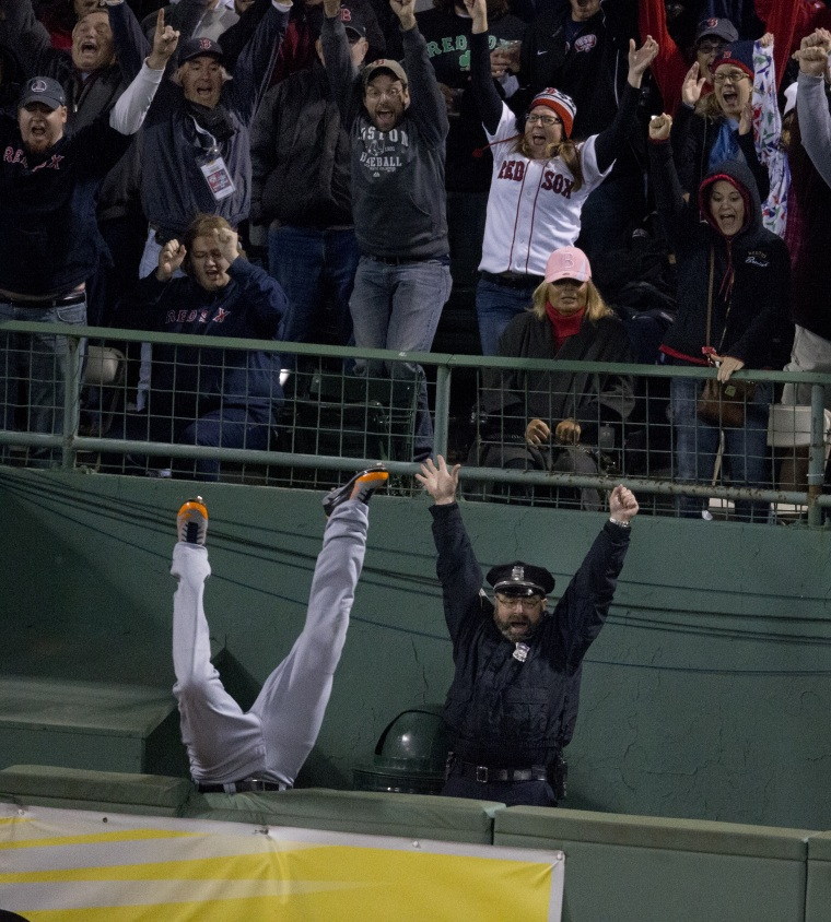 Image: ALCS Game 2: Detroit Tigers Vs. Boston Red Sox At Fenway Park